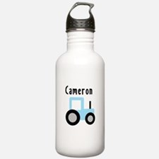 Cameron - Light Blue Tractor Water Bottle