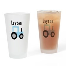 Layton - Baby Blue Tractor Pint Glass