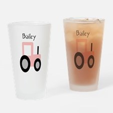 Bailey - Pink Tractor Pint Glass