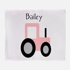 Bailey - Pink Tractor Throw Blanket