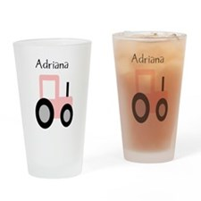 Adriana - Pink Tractor Pint Glass
