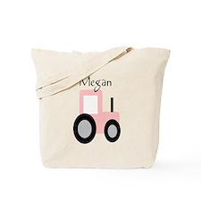 Megan - Pink Tractor Tote Bag