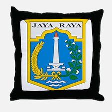 Jakarta Coat of Arms Throw Pillow