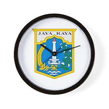 Jakarta Coat of Arms Wall Clock