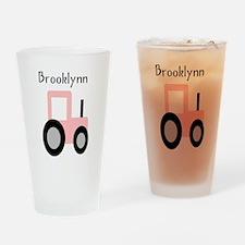 Brooklynn - Pink Tractor Pint Glass