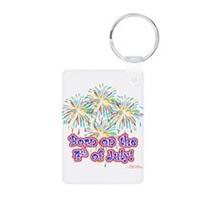 Born on the 4th of July Keychains