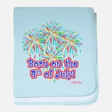 Born on the 4th of July baby blanket