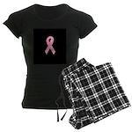 Breast Cancer Ribbon Art Women's Dark Pajamas