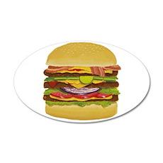 Cheeseburger king 35x21 Oval Wall Decal
