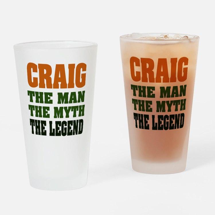 CRAIG - The Legend Pint Glass