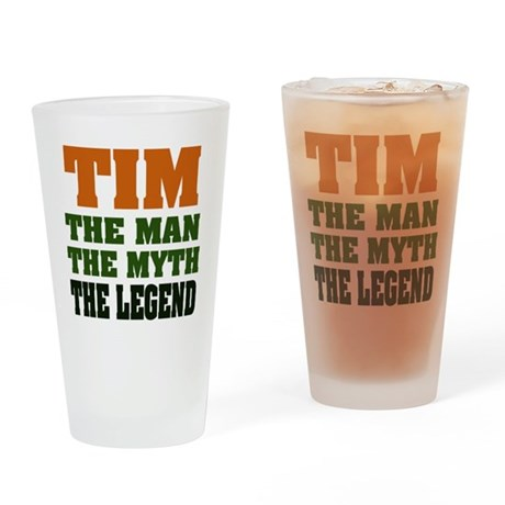 TIM- The Legend Pint Glass