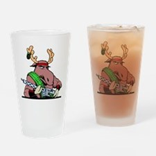 Combat Moose Pint Glass
