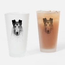 Smooth Collie Pint Glass