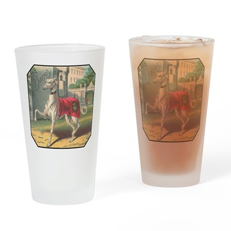 Greyhound Pint Glass