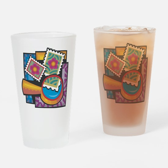 Stamp Collector Pint Glass