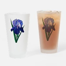 Stained Glass Iris Pint Glass
