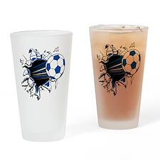 Soccer Ball Burst Pint Glass