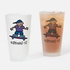 Skateboard Kid Pint Glass
