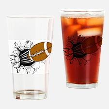Football Burst Pint Glass