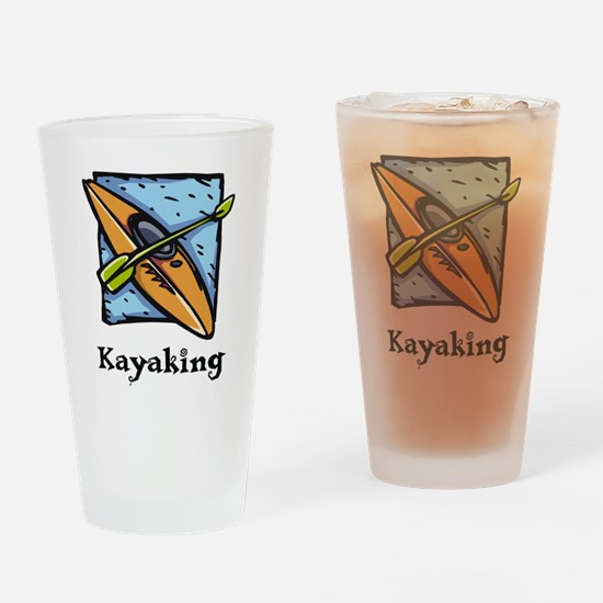Kayaking Pint Glass