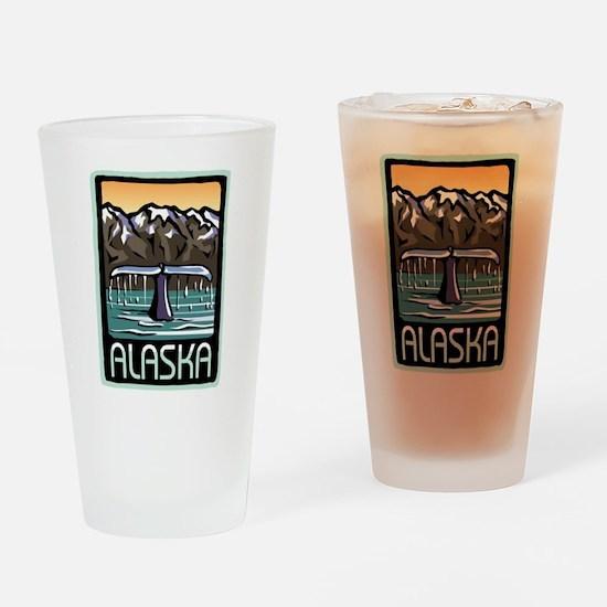 Alaska Whale Pint Glass