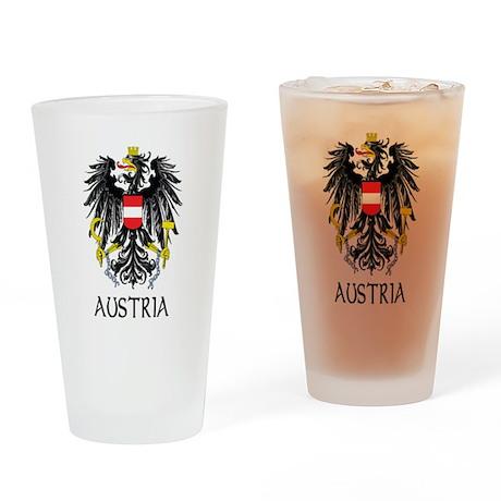 Austria Coat of Arms Pint Glass