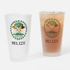 Belize Coat of Arms Pint Glass