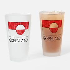 Retro Greenland Flag Pint Glass