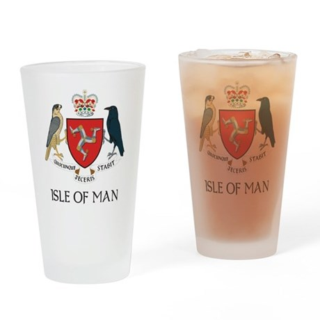Isle of Man Coat of Arms Pint Glass