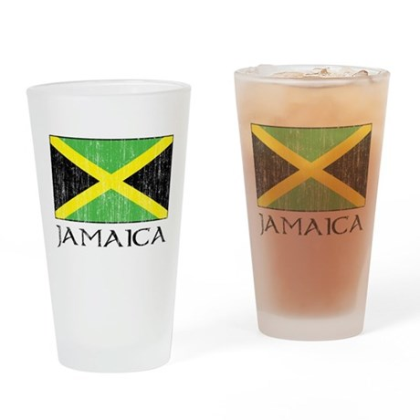 Jamaica Flag Pint Glass