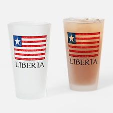 Liberia Flag Pint Glass