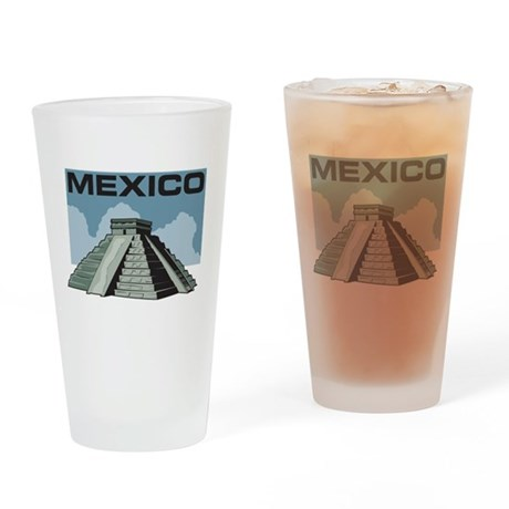 Mexico Pyramid Pint Glass