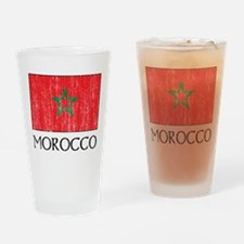 Morocco Flag Pint Glass