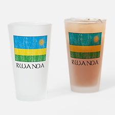 Rwanda Flag Pint Glass