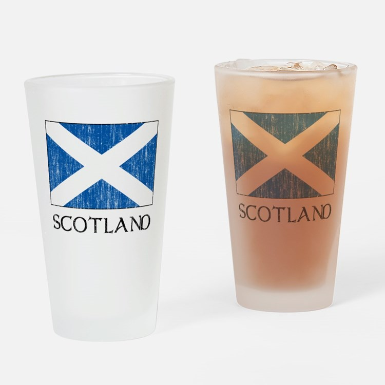 Scotland Flag Pint Glass