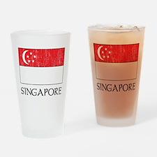 Singapore Flag Pint Glass