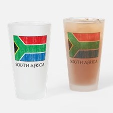 South Africa Flag Pint Glass