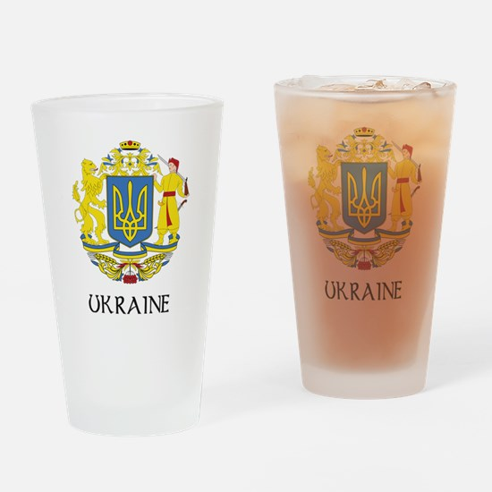 Ukraine Coat of Arms Pint Glass