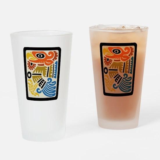 Mexican Aztec Eagle Pint Glass