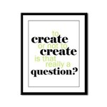 to create... Framed Panel Print