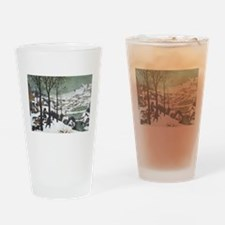 Hunters in the Snow Pint Glass