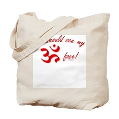 Aum/Ohm Face Yoga/Meditation Tote Bag