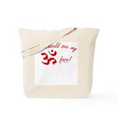 Aum/Ohm Face Yoga/Meditation Tote Bag