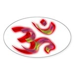 Aum/Ohm Face Yoga/Meditation Oval Sticker