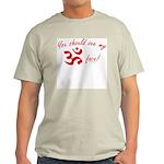 Aum/Ohm Face Yoga/Meditation Ash Grey T-Shirt