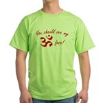 Aum/Ohm Face Yoga/Meditation Green T-Shirt