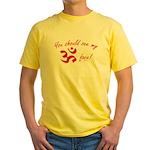 Aum/Ohm Face Yoga/Meditation Yellow T-Shirt