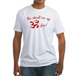 Aum/Ohm Face Yoga/Meditation Fitted T-Shirt