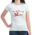 Aum/Ohm Face Yoga/Meditation Jr. Ringer T-Shirt