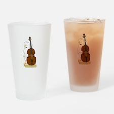 Double Bass Player Pint Glass